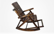 Solid Wood Saloon Rocking Chair