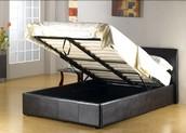 Black Duke Lift-Up Storage bedframe