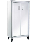 Silver Hollywood Mirrored Tall Cupboard