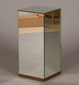 Silver Mirrored Box Side Table